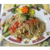 Mihoen met witte sojaplakjes(鸡米粉)